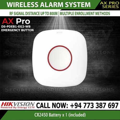 Hikvision wireless Emergency button DS-PDEB1-EG2-WB panic sri lanka best price
