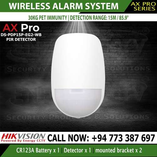 Hikvision PIR Motion Detector for the best Home office security DS-PDP15P-EG2-WB
