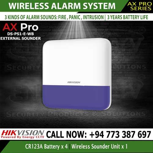 Hikvision external sounder out door siren DS-PS1-E-WE the best security system
