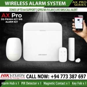 Hikvision wireless burglar alarm system DS-PWA64-Kit-WB sri lanka