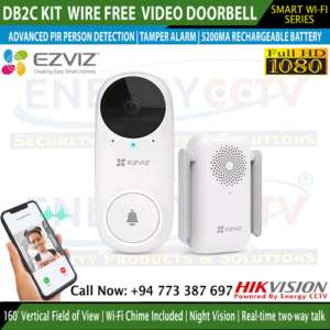 DB2C-Kit Wire-Free Video Doorbell with Chime sri lanka